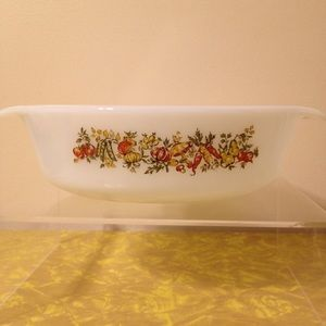 Vtg Fire King Spice of Life Casserole Dish
